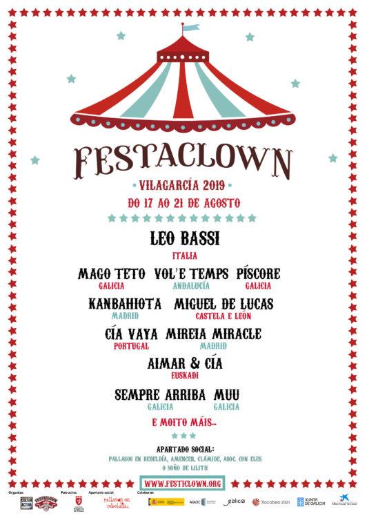 Cartel Festaclown Vilagarcía 2019