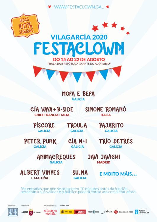 Cartel Festaclown Vilagarcía 2020