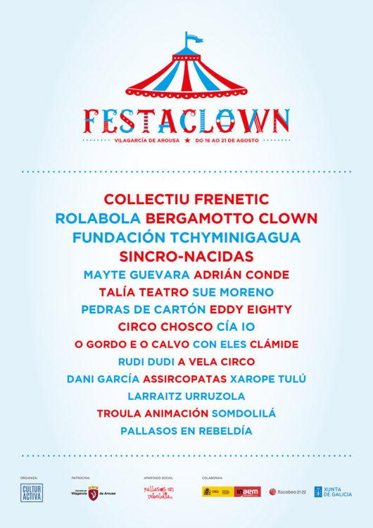 Cartel Festaclown Vilagarcía 2021